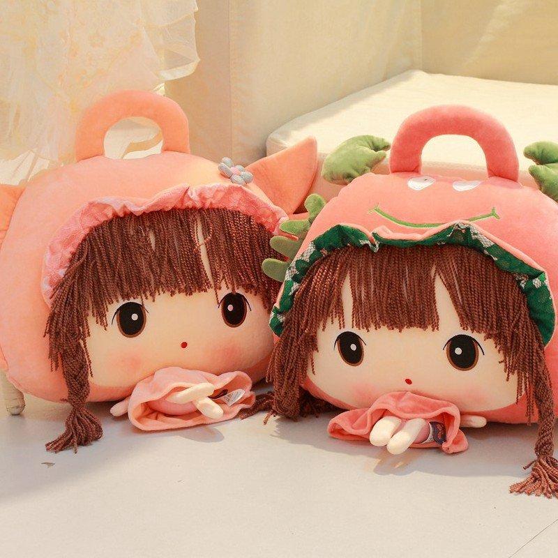 朵啦啦 菲儿十二星座三用空调毯 毛绒玩具大号布娃娃玩偶 生日礼物