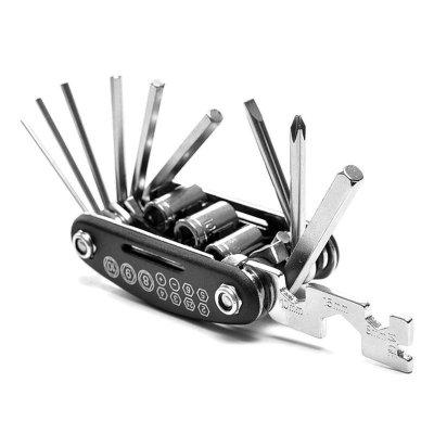 山地车自行车组合工具维修补胎修理扳手多功能折叠工具