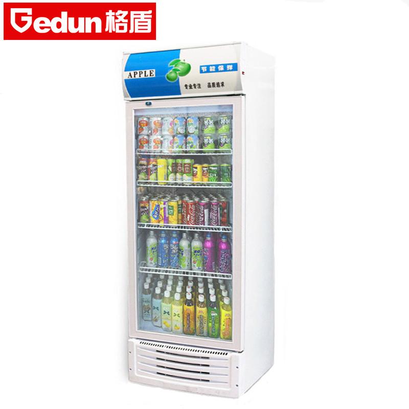 格盾电器旗舰店 展示柜冷藏立式冰柜 蓝白色 商用冰箱