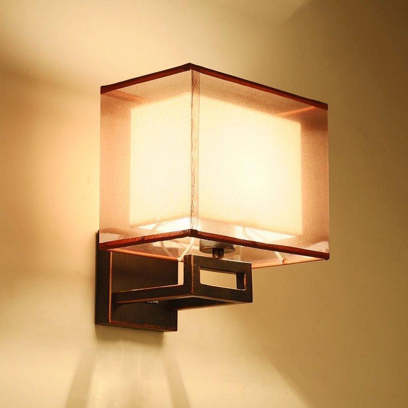 雷士照明 文轩新中式壁灯 客厅卧室床头灯简约现代仿古创意酒店过道灯图片