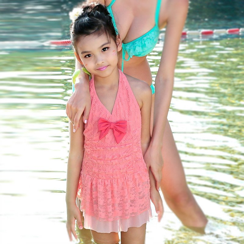 日本泳装小女孩图片_女童游泳衣小女孩公主学生 ...