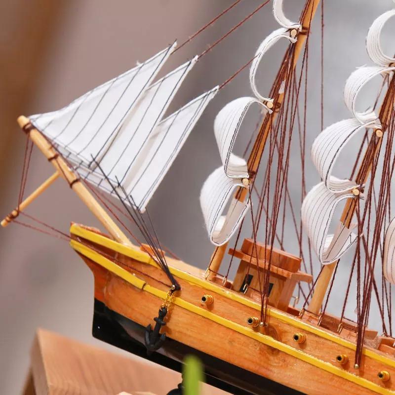 哥德堡号船模型地中海大号手工实木一帆风顺帆船摆件欧式工艺品
