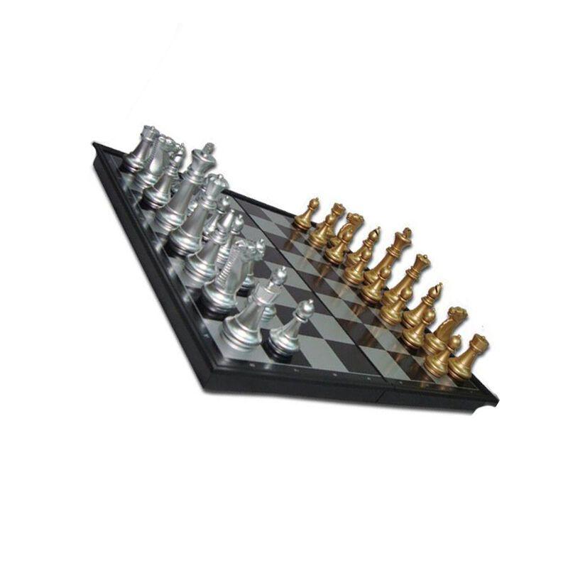 户外运动休闲休闲娱乐磁性国际象棋 国际跳棋 金银色