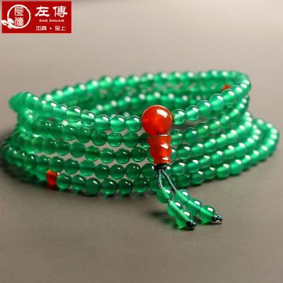 左傳 綠玉髓216顆佛珠手鏈項鏈 6mm 216顆