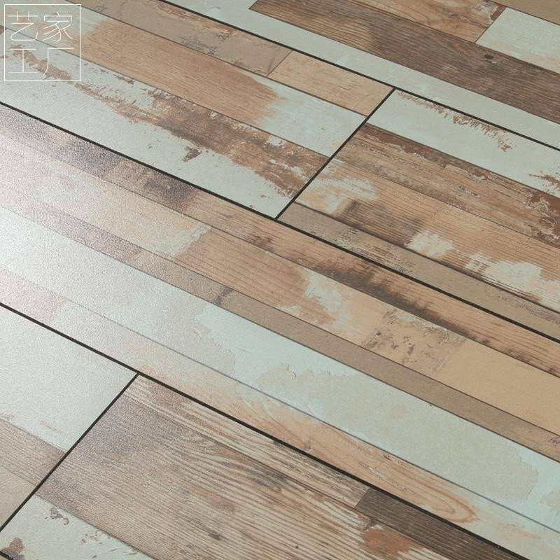 红杉树 12mm强化地板复合木地板个性复古做旧仿古字母
