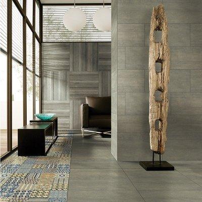 依诺瓷砖 餐厅防滑地砖 客厅仿古砖地砖 极简地板砖瓷砖
