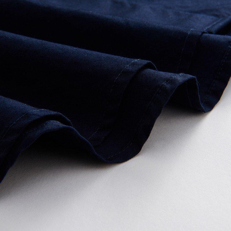 gy雅戈尔男装春季新款男藏青欧式花纹领纯棉英伦修身长袖休闲衬衫
