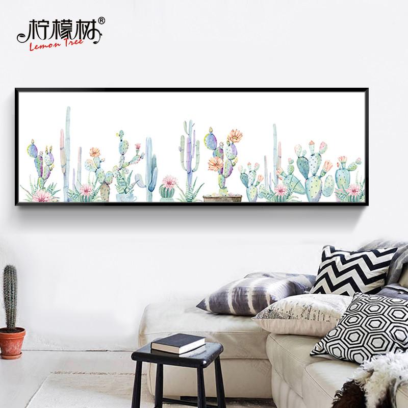 北欧风格横版装饰画卧室床头画房间家居装饰品客厅沙发背景墙装饰