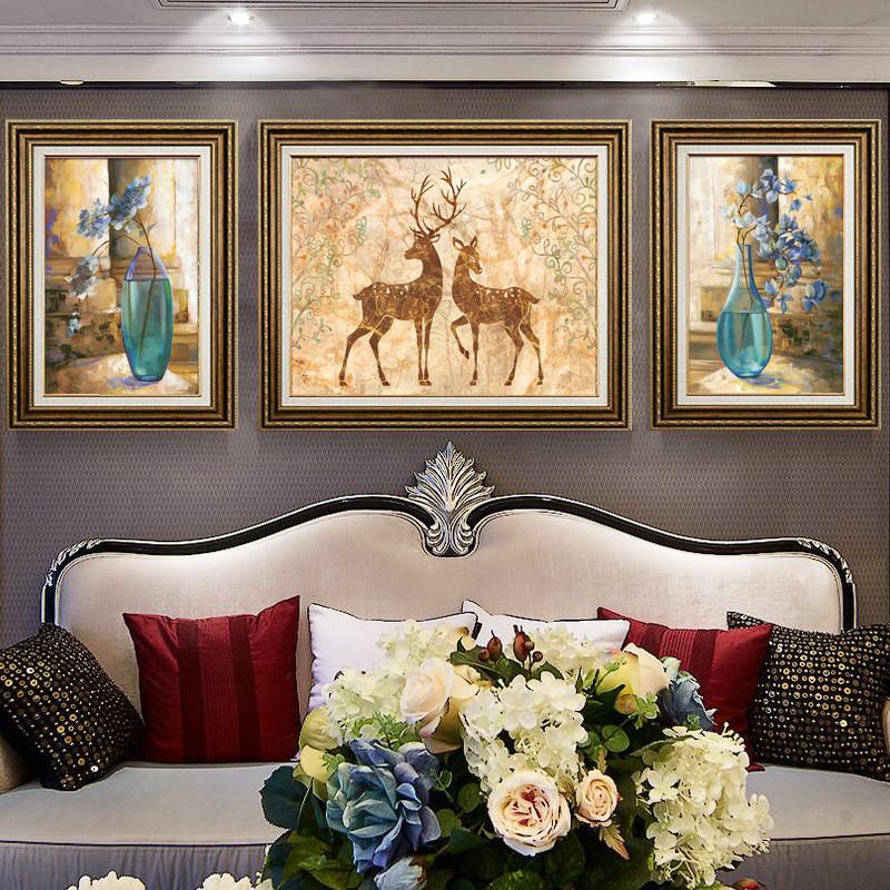 欧式装饰画客厅沙发背景墙装饰简欧风格家居墙壁装饰玄关走廊挂画