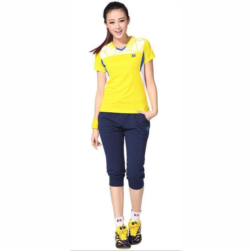 户外运动羽毛球服上衣男女款 速干运动服球衣夏季短袖