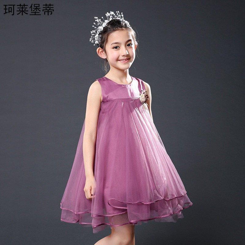 珂莱堡蒂 裙子童装女童连衣裙礼服