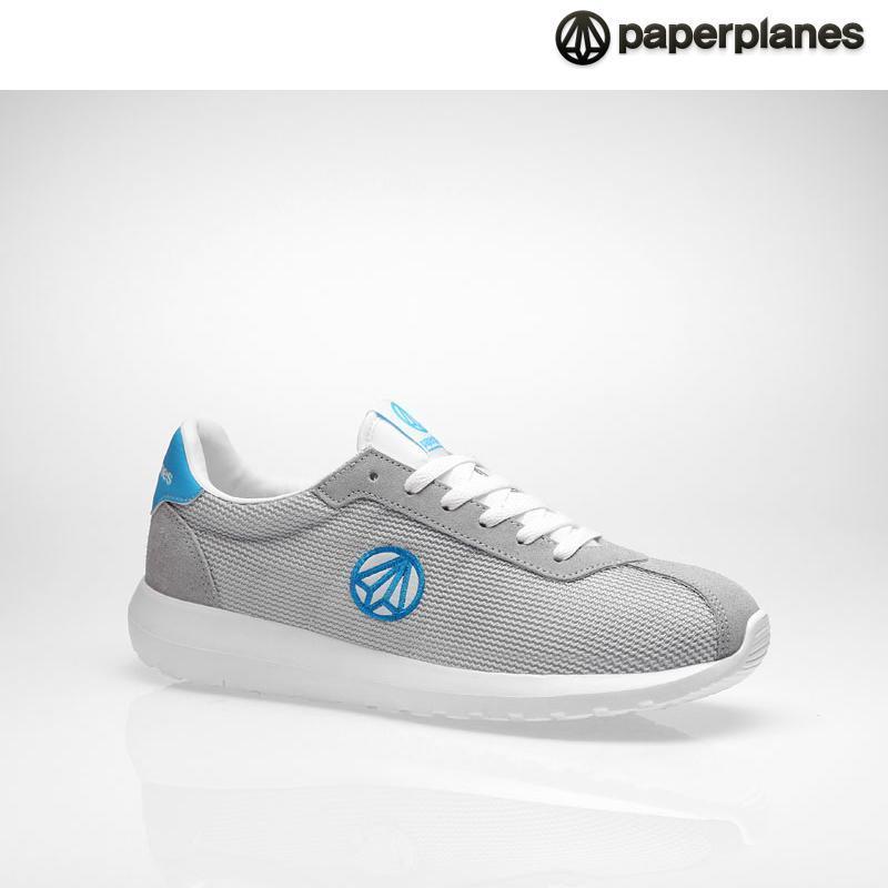 [纸飞机]100%韩国正品pp1396男女情侣气垫运动鞋 _gray blue