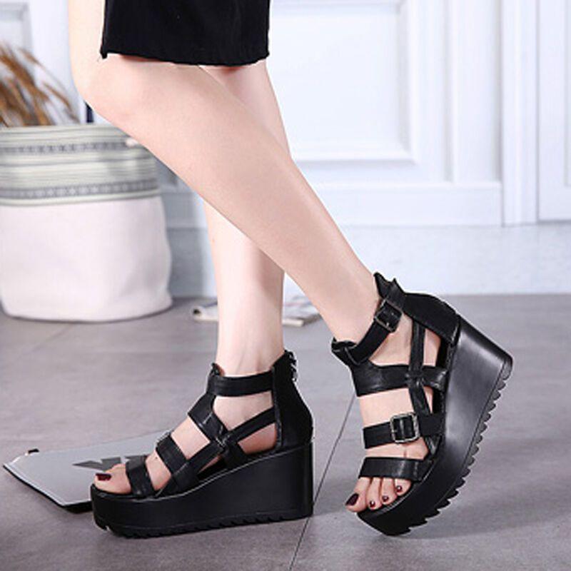 凉鞋女厚底松糕鞋