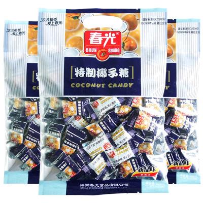 春光 特制椰子糖228克*3袋裝 海南特產特濃 硬糖 水果糖 椰子糖 糖果