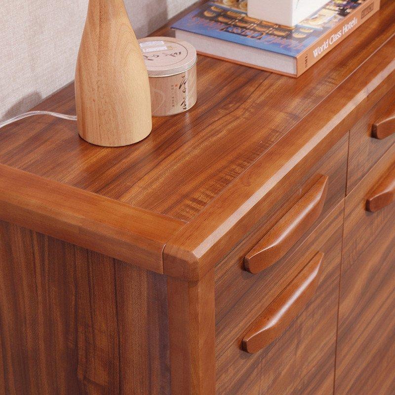 新柜尔 实木鞋柜大容量门厅玄关可调节鞋架多用柜超薄