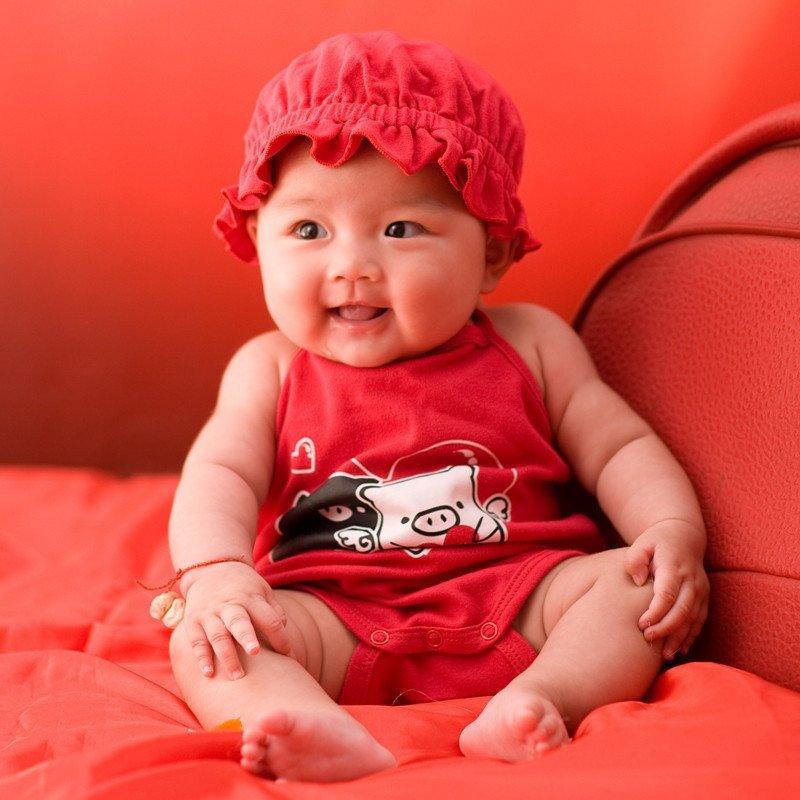 小琳琅新生婴儿夏装纯棉短袖可爱版三角爬0-1岁宝宝哈