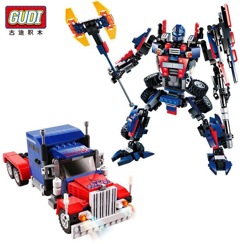 古迪拼装积木变形机器人擎天金刚益智377片男孩 6-12岁玩具礼物 8713