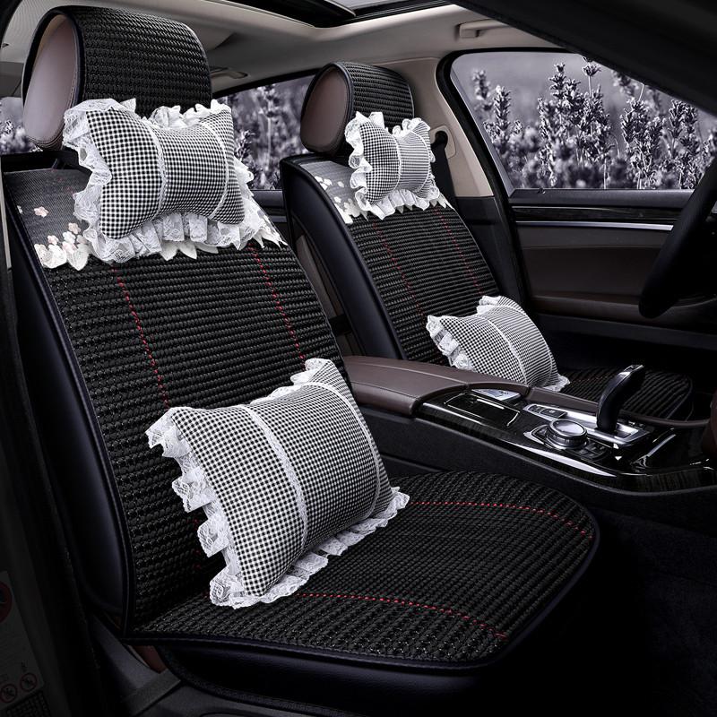 汽车坐垫四季通用座垫夏天全包冰丝椅套蓝鸟骐达骊威阳光起亚k3k5k2