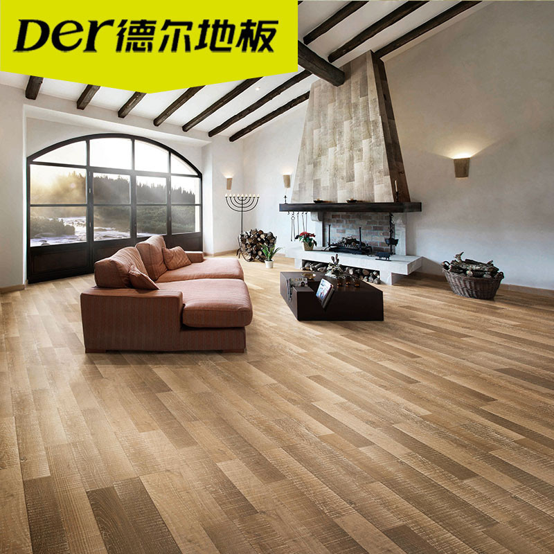 德尔地板 无醛芯环保强化复合木地板适用地暖dn0003 伯尔默晨雾