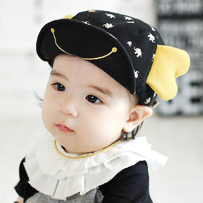 婴儿鸭舌帽1-2岁春秋可爱小孩棒球帽韩版0-6-12个月男女宝宝帽子