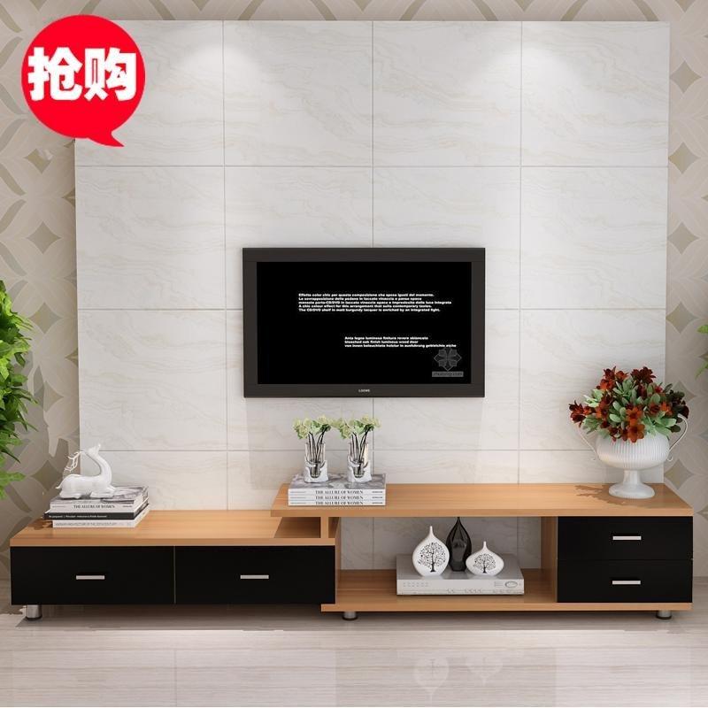 鹿梵 现代简约 环保颗粒板式 伸缩 客厅 家居电视柜 地柜组合