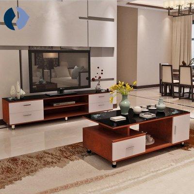 电视柜小户型伸缩电视柜欧式钢化玻璃茶几电视柜组合
