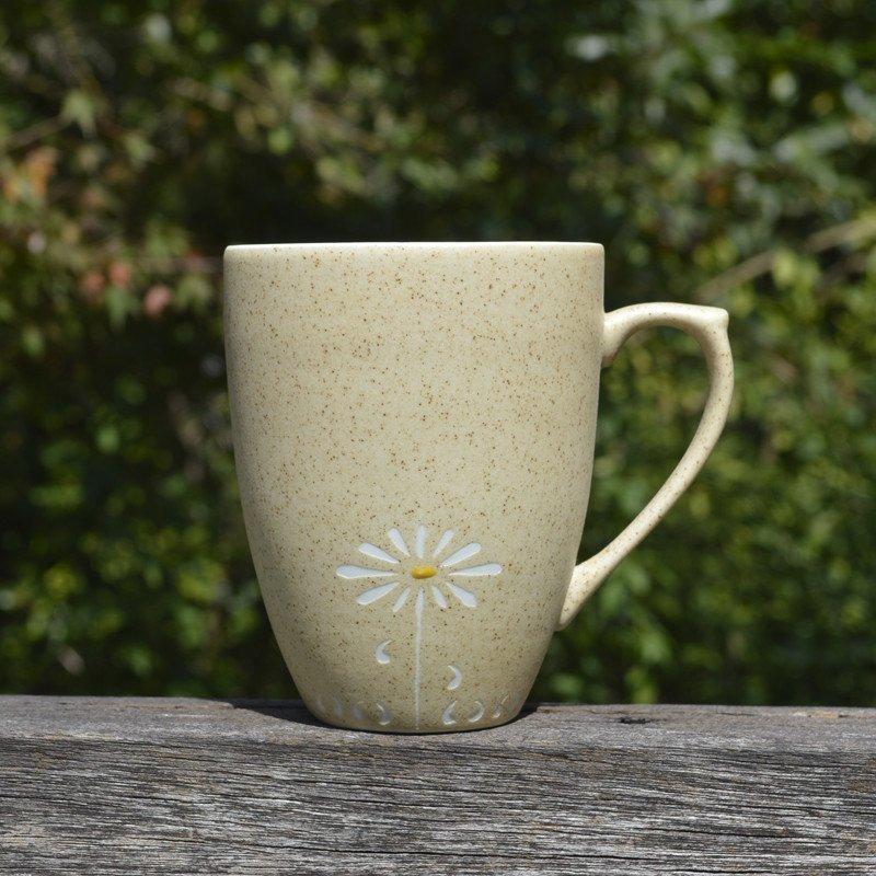 创意咖啡杯陶瓷马克杯带盖勺 手工简约水杯