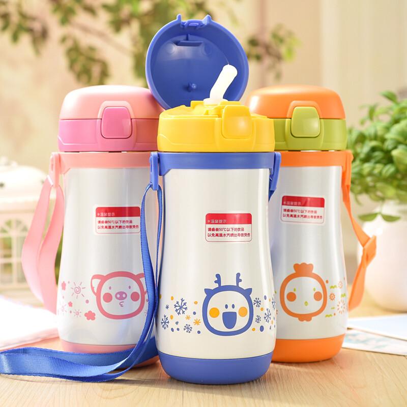 富光不锈钢吸管保温杯防漏儿童可爱水杯便携宝宝卡通杯子创意水壶