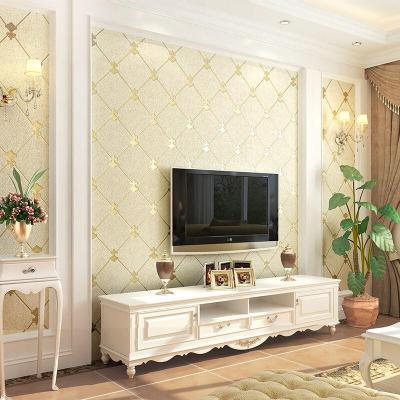電視背景墻壁紙加厚浮雕3d立體環保臥室客廳簡約現代無紡布墻紙