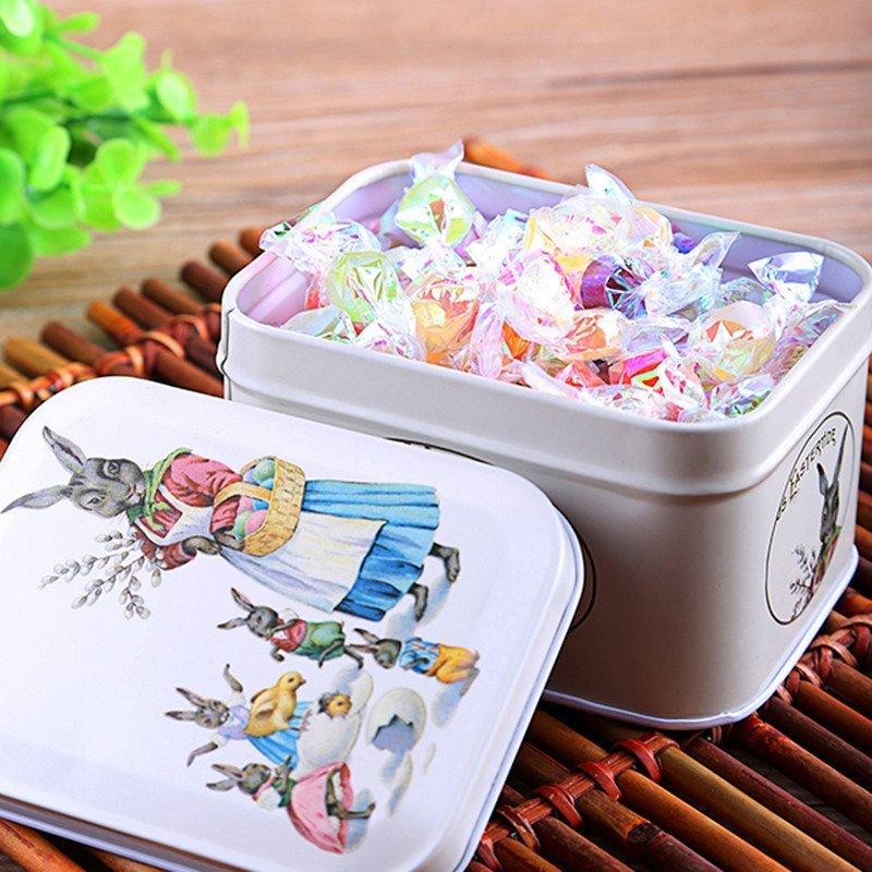 刻凡 兔妈妈马口铁礼盒装 千纸鹤许愿糖100g