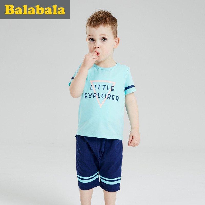 巴拉巴拉男童套装宝宝童装2016夏装新款儿童短袖t恤短裤两件套男