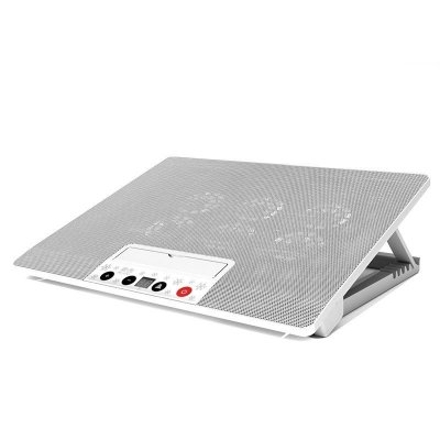 诺西 笔记本散热器 14英寸15.6英寸 联想华硕戴尔电脑散热底座垫支架 (白色至尊版 液晶显示 按键调速 )