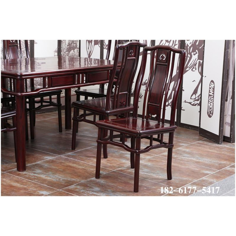 御 红木家具餐桌 南美酸枝木明式长餐桌 中式明清古典