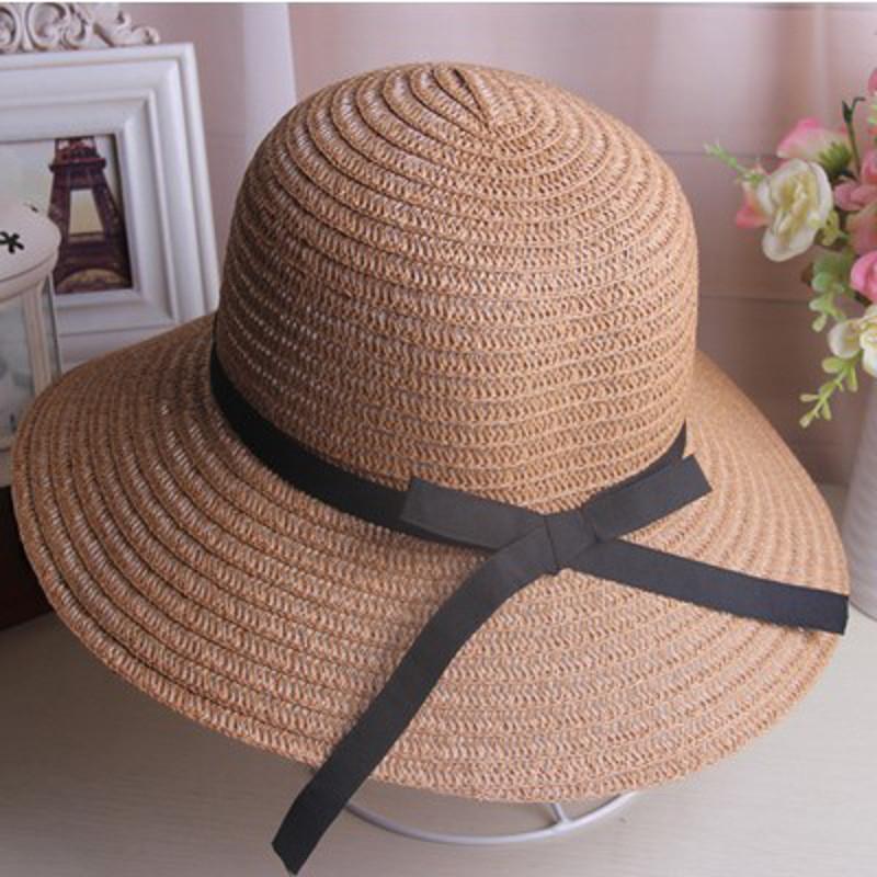 旅行帽 遮阳帽 女士夏天太阳帽沙滩帽子礼帽大檐帽防晒宽檐花