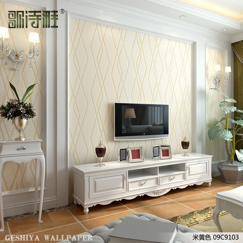 歌诗雅客厅影视墙电视背景墙壁纸简约现代时尚装饰家装修加厚墙纸