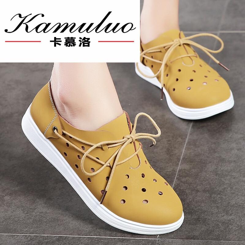 卡慕洛时尚品牌2017夏天新款平底v单鞋单鞋少与看女生片三级图片