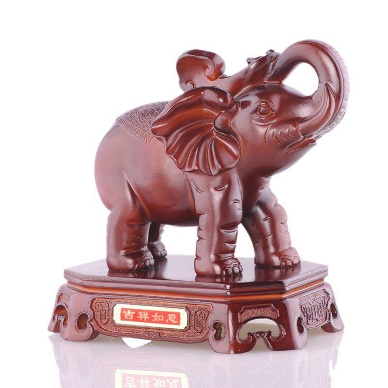 大象摆件吉祥如意家居装饰品乔迁礼品树脂家居客厅摆设吉象工艺品