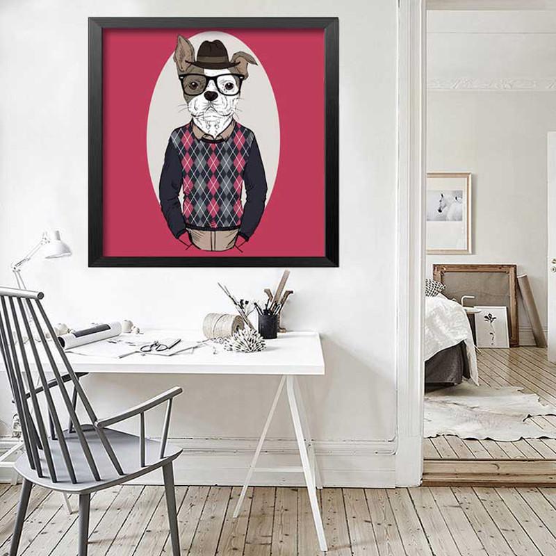 客厅装饰画沙发背景墙餐厅挂画儿童房壁画玄关墙画北欧创意有框画