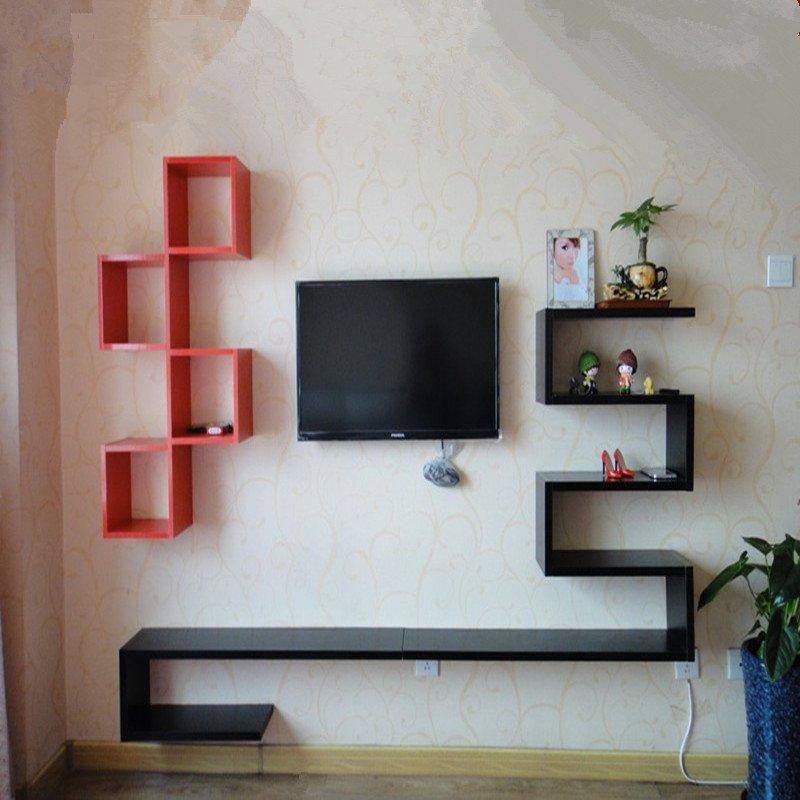 苏鼎简约电视柜 创意造型电视背景墙 时尚装饰架 客厅