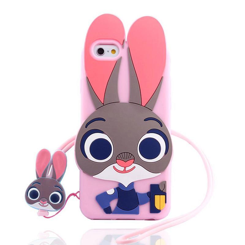 雪奈儿 iphone7手机壳疯狂动物城朱迪兔子 苹果7plus 硅胶可爱卡通防
