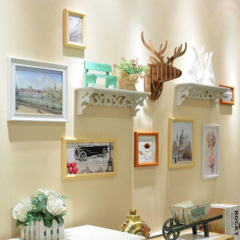 欧式地中海相框背景墙酒吧高端立体壁饰挂墙鹿头装饰
