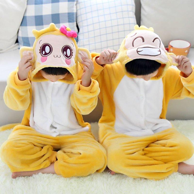 秋冬儿童法兰绒连体睡衣男猴女猴卡通动物嘻哈猴珊瑚
