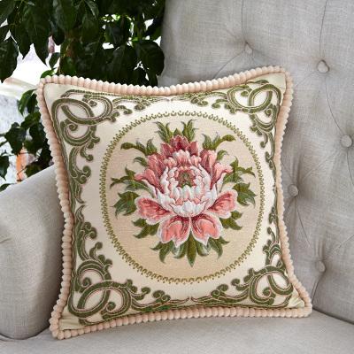 黎优家纺LIYOU欧式靠垫高精密浮雕沙发抱枕汽车靠背床头大靠枕含芯抱枕套