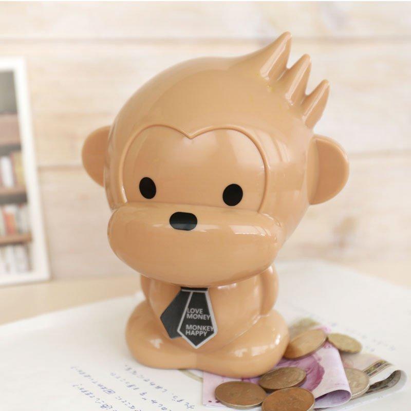随想曲 创意猴子存钱罐储蓄罐 儿童大号存钱罐 卡通动物存钱罐 创意