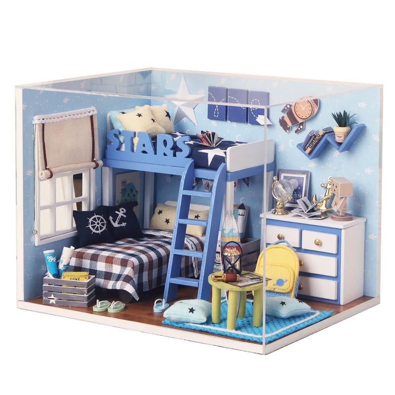 创意手工diy小屋手工制作拼装小房子模型创意礼品送女友老婆儿童七夕