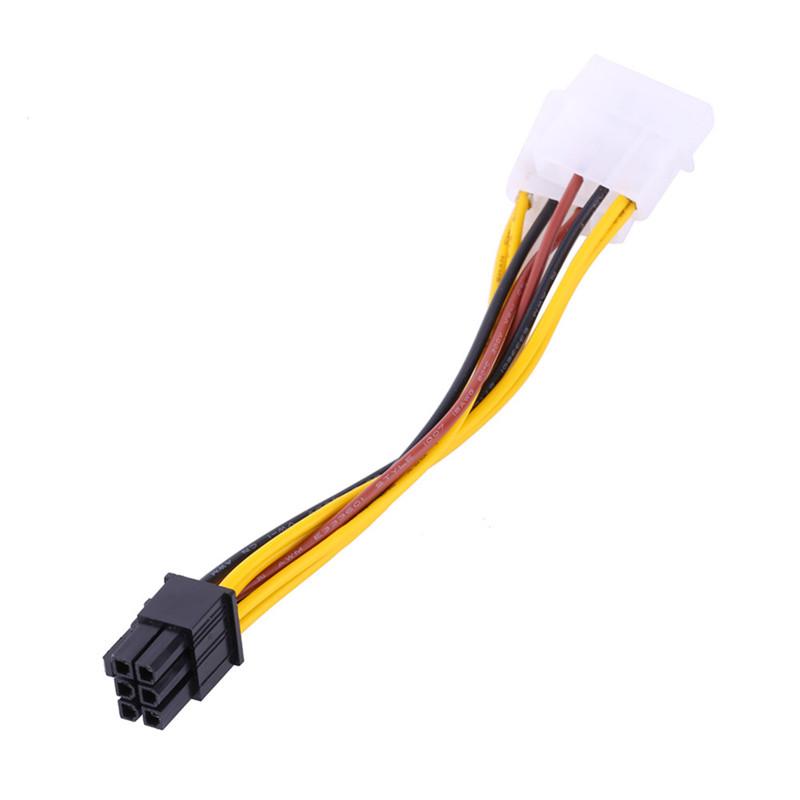 映羽4pin ide转6pin显卡电源线 2口大4p转6p显卡供电线 独立显卡电源