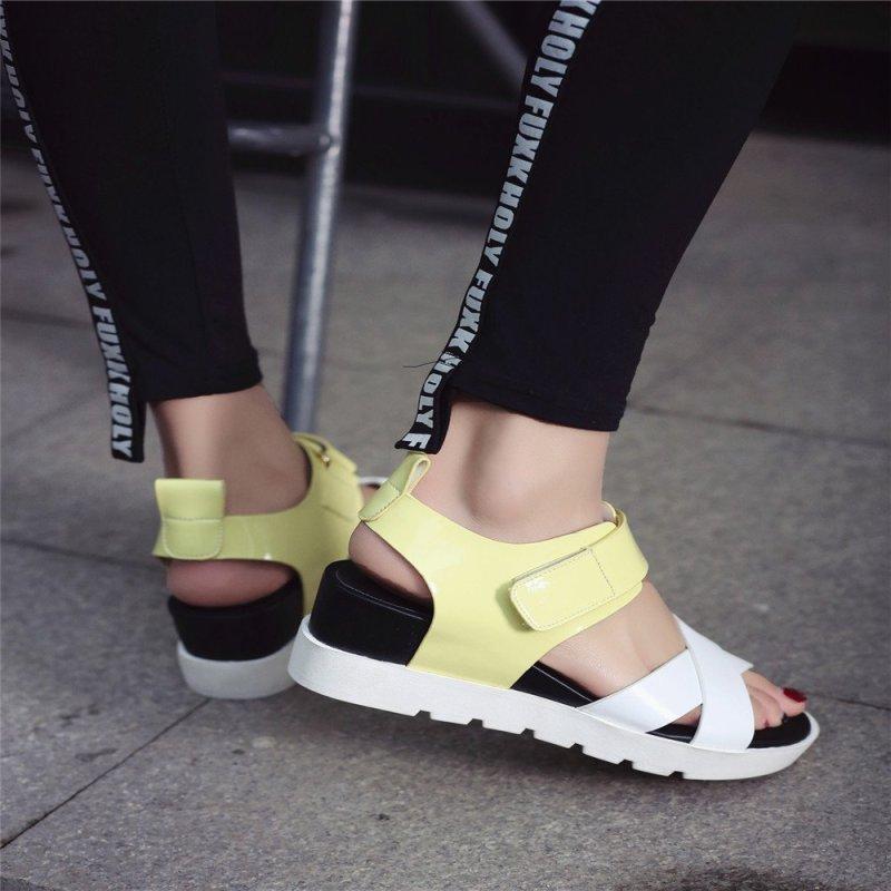 凉鞋防水台