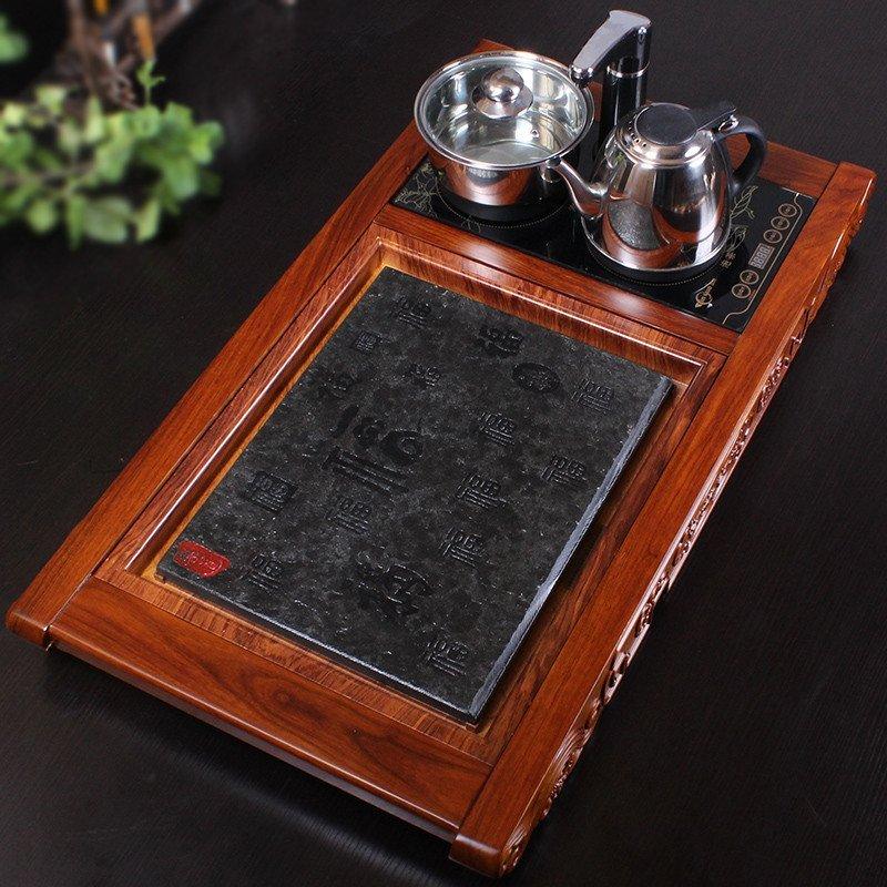 茶具套装整块乌金石茶盘实木红花梨木
