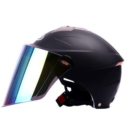野馬YEMA327電動摩托車頭盔男女夏季防曬防紫外線輕便式夏盔電動車安全帽