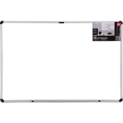 得力33340白板 挂式磁性大白板写字教学办公会议板60*40白板deli